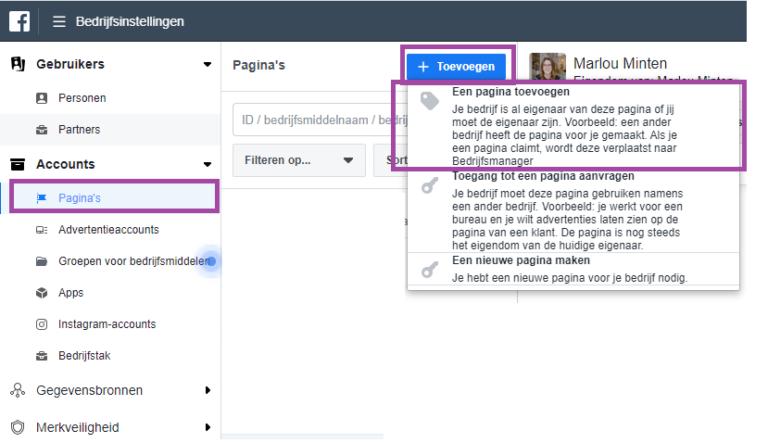 Facebook Business Manager aanmaken
